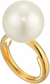 Kenneth Jay Lane Gold Band/16 mm White Shell Pearl