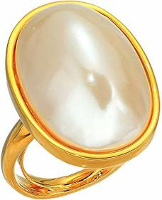 Kenneth Jay Lane Gold Setting/18 X 13 Oval Pearl A