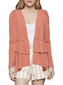 BCBGeneration Double-Tiered Peplum Jacket CANYON C