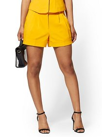 Yellow Cuffed 4 Inch Short - All-Season Stretch -