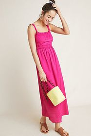 Anthropologie Viola Eyelet Maxi Dress