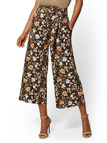 Madie Crop Pant - Brown Floral - 7th Avenue - New