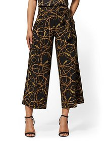 Madie Crop Pant - Link Print - 7th Avenue - New Yo