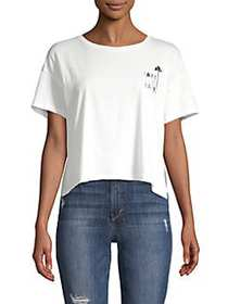 French Connection Take It Easy Graphic Crop Tee SU
