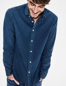 Boden Slim Fit Indigo Shirt