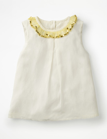 Boden Sparkly Ruffle Trim Top