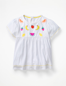 Boden Tropical Embroidered Top
