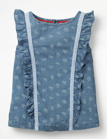 Boden Lace Detail Woven Top