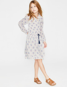 Boden Smocked Waist Printed Dress