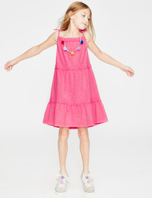 Boden Tiered Garment-dyed Dress