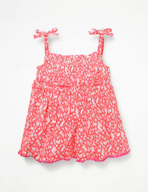 Boden Fun Strappy Smocked Top