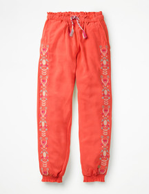Boden Embroidered Floaty Pants
