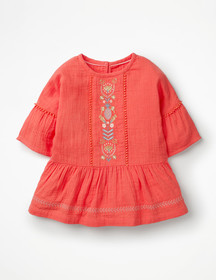 Boden Embroidered Peplum Top