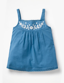 Boden Embroidered Strappy Top