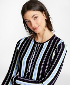 Brooks Brothers Striped Cotton Jersey Tunic