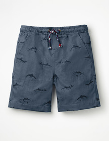 Boden Washed Canvas Pull-on Shorts