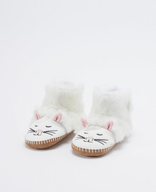 Hanna Andersson Critter Slippers in Cat - main