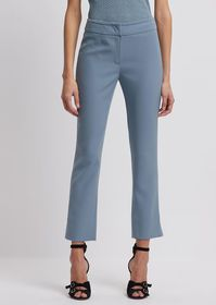 Armani Cropped pants with slit at ankle hem