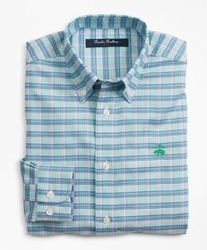 Brooks Brothers Boys Non-Iron Oxford Alternating C