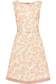 MARC JACOBS Belted chiffon-trimmed floral-print co