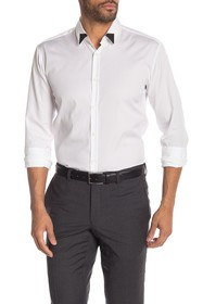 BOSS Tipped Collar Extra Slim Fit Shirt
