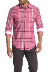 BOSS Ronni Plaid Print Slim Fit Shirt
