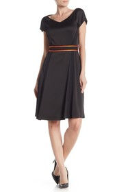 BOSS Dartonika Belted Short Sleeve Dress