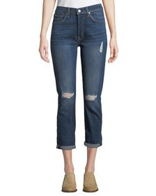 7 For All Mankind Josefina Faded Cropped Skinny Je