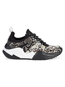 Kenneth Cole Maddox Jogger Sneakers BLACK WHITE
