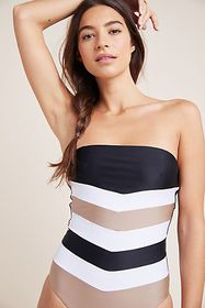 Anthropologie PilyQ Colorblocked One-Piece Swimsui