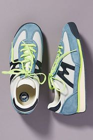 Anthropologie Karhu Blue Colorblocked Sneakers