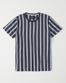 Vertical Stripe Crew Tee, NAVY STRIPE