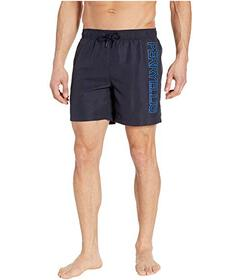 Perry Ellis Printed Perry Logo Swim Shorts
