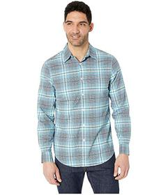Perry Ellis Multi Plaid Resist Spill Stretch Shirt