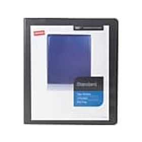 Staples Standard 1 3-Ring View Binder, Black (2643