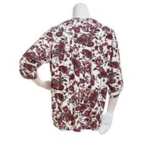 Cathy Elbow Sleeve Floral & Paisley Print Top