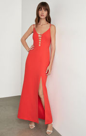 BCBG Strappy Caged Gown