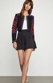 BCBG Embroidered Cropped Jacket