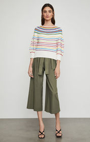 BCBG Mixed Stitch Striped Sweater