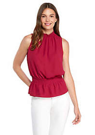 The Limited Sleeveless Cinched Waist Top