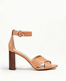 Liya Leather Block Heel Sandals