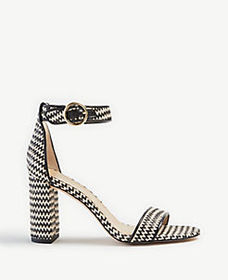 Leannette Straw Block Heel Sandals