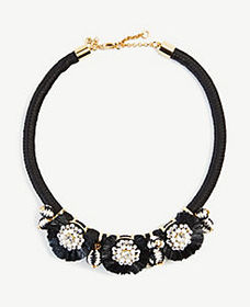 Sparkle Raffia Statement Necklace