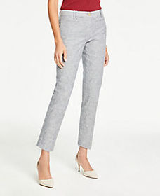 The Cotton Crop Pant in Stripe