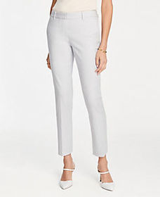 The Ankle Pant In Linen Blend