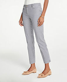 The Cotton Crop Pant In Seersucker - Curvy Fit