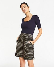 Polka Dot Pleated Shorts