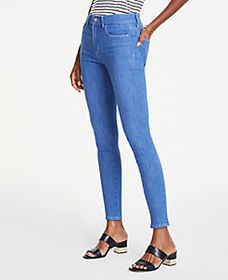 Performance Stretch Skinny Jeans in Bright Mid Ind