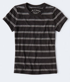 Aeropostale '90s Slim Kate Striped Crew Tee