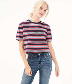 Aeropostale '80s Striped Boxy Tee